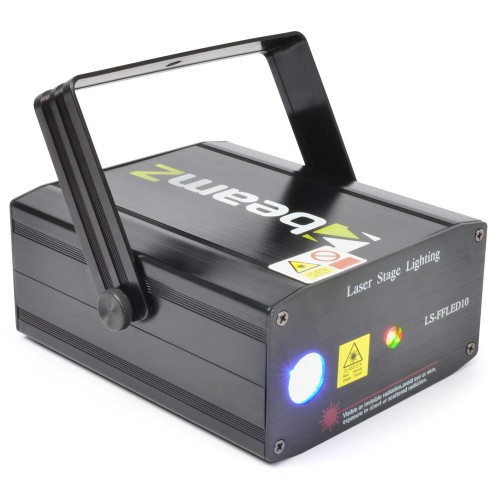 LS-FFLED10 laser rood groen + gobo + led