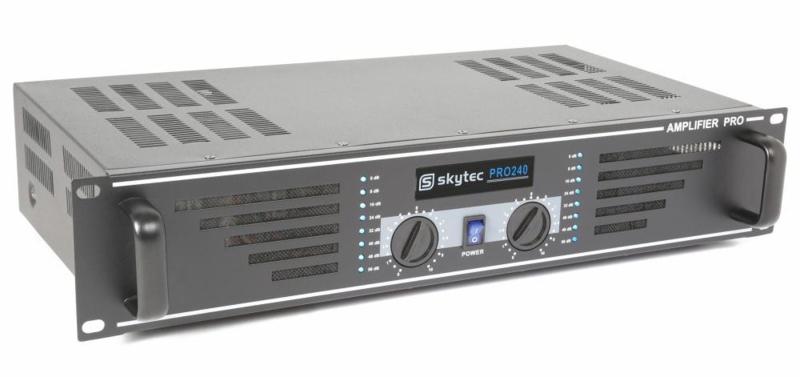 SkyTec SKY-240B PA Versterker 2x 120W Zwart