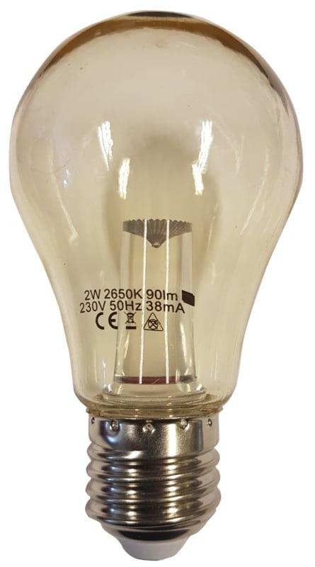 10 stuks led lamp 2watt peervorm helder