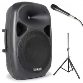 """SPS152 Actieve Speaker 15"""" SD/USB/MP3/BT met Stand"""