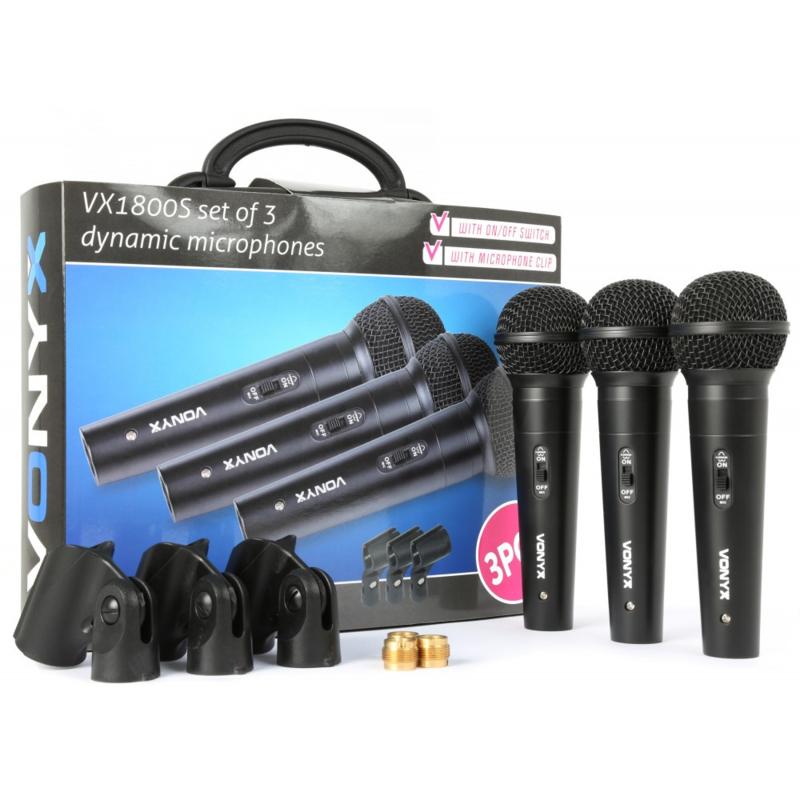 VX1800S Dynamic Microfoon set 3 stuks