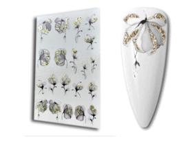 Artikel-Nr.: 5185 - Full Glitter Bloemen