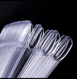 Kleurenring oval tips clear 50st