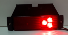 Zij-markeringslamp 10-30v 3 LED met reflector en haakse beugel
