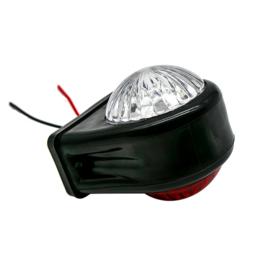 Breedtelamp Rood/Wit 10-30v 12 SMD LED