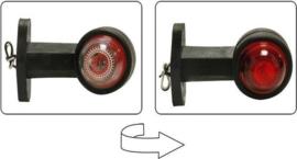 Benson Breedtelamp Rubber Op Steel 125 mm Rood / wit