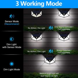 Solar buitenlamp 100 LED Buitenlamp op zonne energie