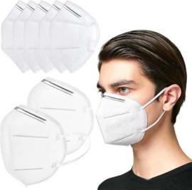 5 stuks mondkapjes - Zeer hoge beschermingsfactor - 6 laags met neusclip