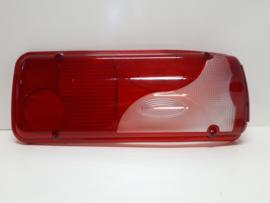 Achterlicht glas (lens)  Rood/Wit
