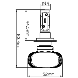 Led Koplamp H1/H3/H4/H7/H8/H9/H11 Pro Line