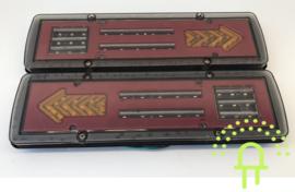 Set NEON Led Achterlichten met dynamisch knipperlicht 12v Type 28