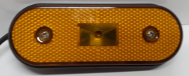 Zij-markeringslamp 10-30v Ovaal met reflector en montage beugel
