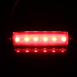 Zij-markeringslampen 12 of 24v 6LED