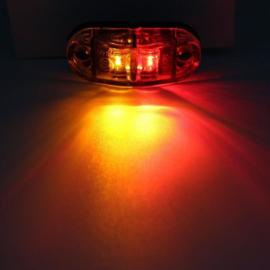 NIEUW! Zij-markeringslamp Rood/Oranje 10-30v