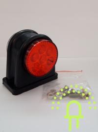 Breedtelamp Rood/Wit 10-30v 14 LED