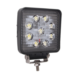 LED Werklamp vierkant 27 watt 10-30v