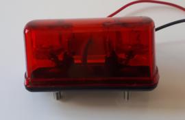Kenteken verlichting met achterlicht 4 LEDs 10-30v