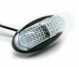 Zij markeringslamp Oranje/Rood 4 LED 10-30v