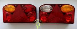 Set GL3  Achterlichten met 5-pins connector incl 12v Lampjes