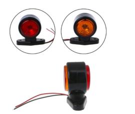 Breedtelamp Oranje/Rood 10-30v 2 HIGH POWER LED