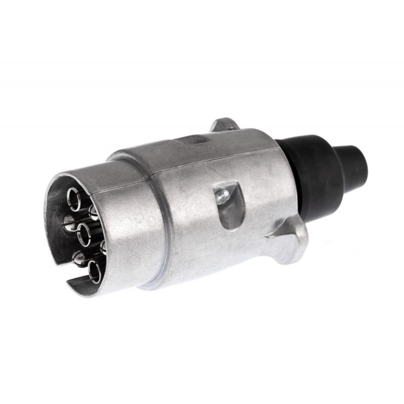 Bright Ride 7-Polige stekker aanhangwagen metaal zilver met aansluitschema W-SP72001