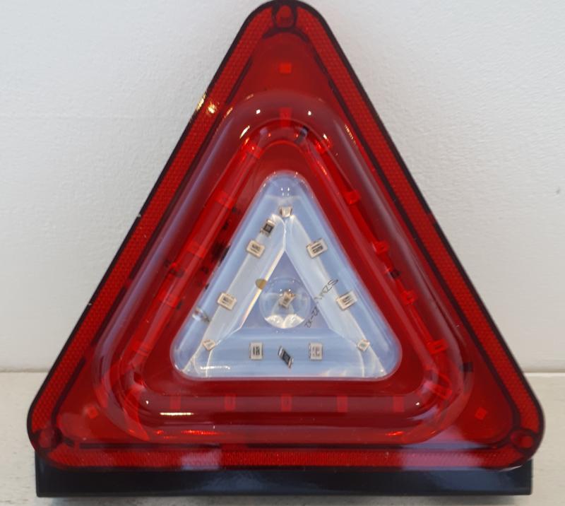 LED Flitser Driehoek Rood 24V
