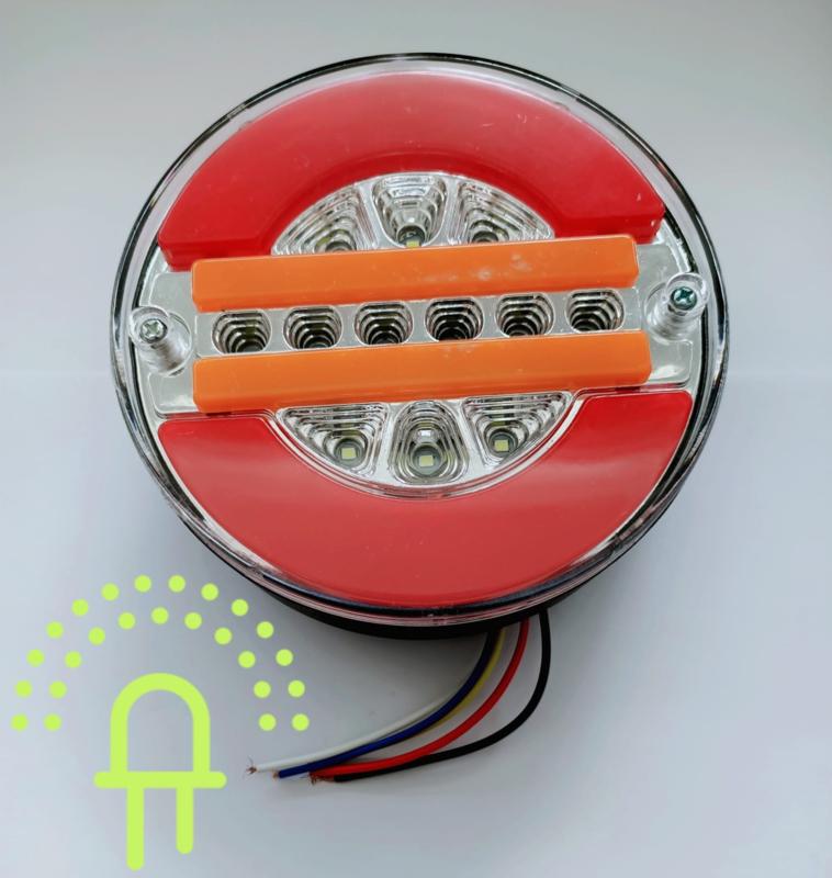 NEON Led Hamburger Achterlicht DH1 10-30v Dynamisch knipperlicht