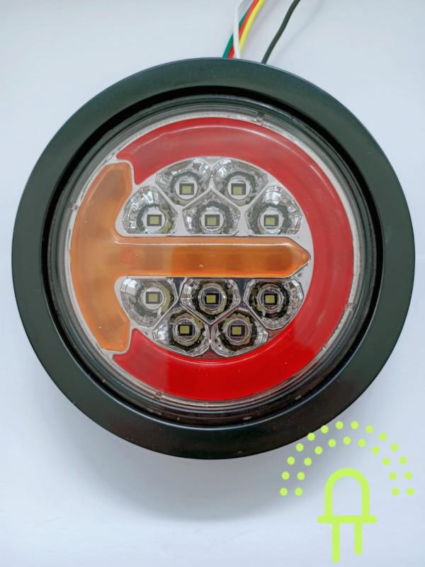 NEON Led Achterlicht inbouw DH3 10-30v Dynamisch knipperlicht