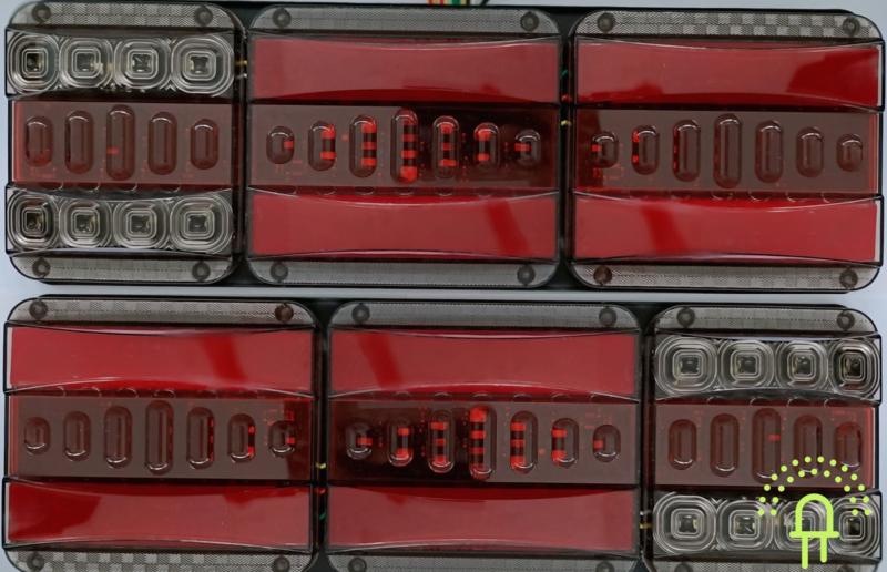 NEON Led Achterlichten 10-30v DT1 Dynamisch Knipperlicht