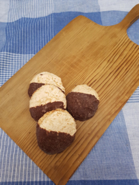 Kokos schuimkoeken met chocolade