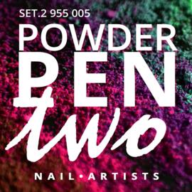 Nail art powder pen set 2
