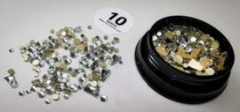 Glitterstones #10 white rond