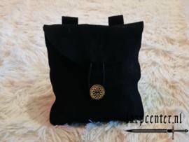 suede tas groot zwart