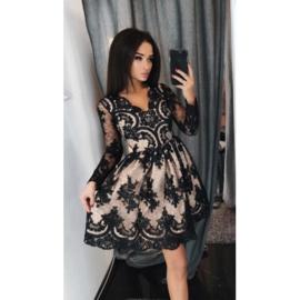 Phybie Dress Black/Beige