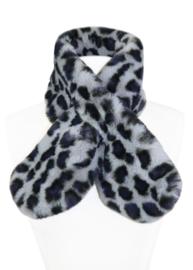 Faux fur scarf Atlanta grey