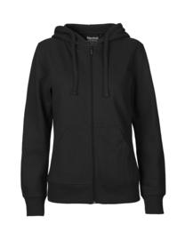 Dames hoodie met rits (O83301)