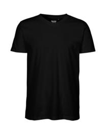 Mannen T-shirt met V-hals (O61005)