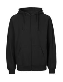 Mannen hoodie met rits (O63301)
