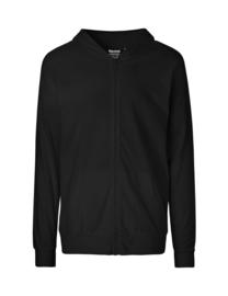 Unisex hoodie met rits (O62301)
