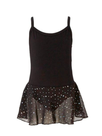 Zwart balletpak met glitter rok kinderen (12pk4051)