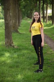 AVIV Dames T-shirt Geel  Volwassen, Slim Fit (O81001)