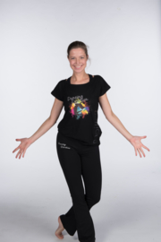Dancing Devotion t-shirt viscose papillon volwassen (18PA2532)