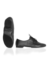 Jazzschoenen van leer met verchroomde splitzool, voor volwassen (PA1214)