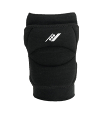 Zwarte kniebescherming met brede sponsvulling (27102-201)