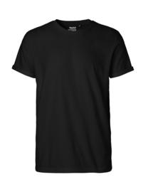 Mannen T-shirt met omgevouwen mouw (O60012)