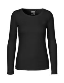 Dames T-shirt met lange mouwen (O81050)