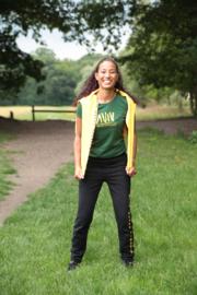 AVIV Dames T-shirt Groen Slim Fit  Volwassen  (O81001)