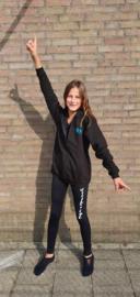 SOOF'IT BUDGET hoodie met rits zwart voor kinderen (JH050K)
