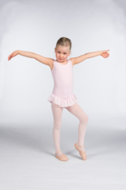 Balletpak roze met voile frill voor Kinderen (PK4041)