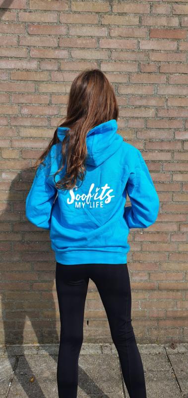SOOF'IT BUDGET hoodie blauw met rits voor kinderen  (JH050K)